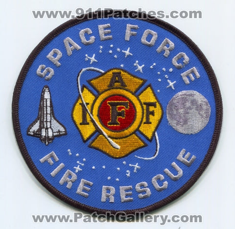 Space Force Fire Rescue Department IAFF Local Union Patch No State Affiliation