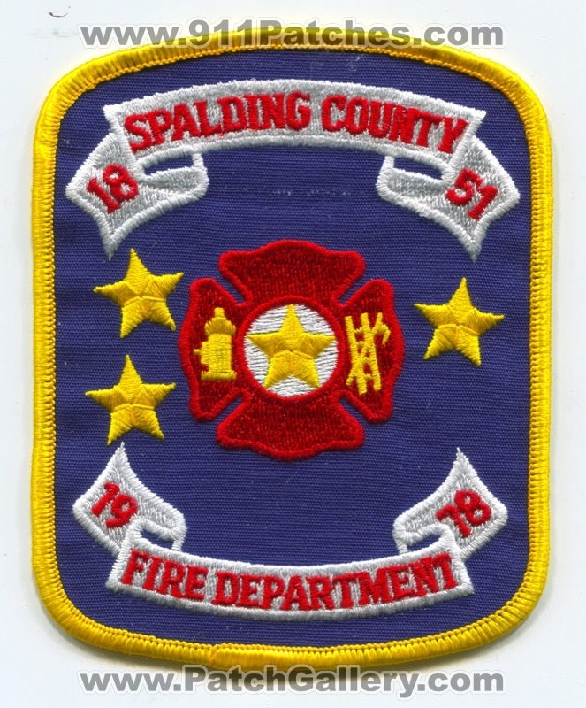 Spalding County Fire Department Patch Georgia GA