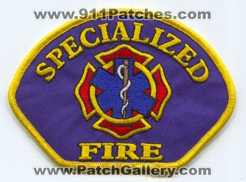 Specialized Fire Department Patch Unknown State