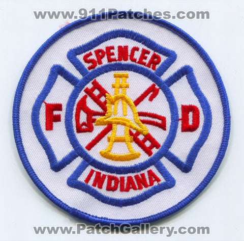 Spencer Fire Department Patch Indiana IN