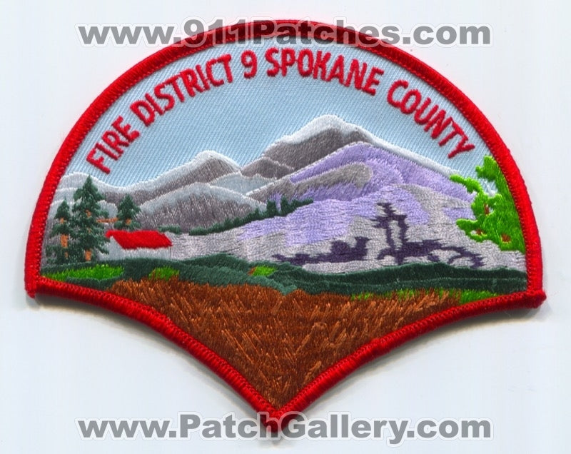 Spokane County Fire District 9 Patch Washington WA