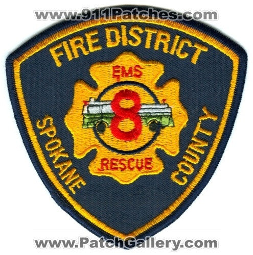 Spokane County Fire District 8 Patch Washington WA