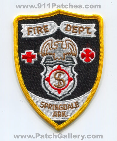 Springdale Fire Department Patch Arkansas AR