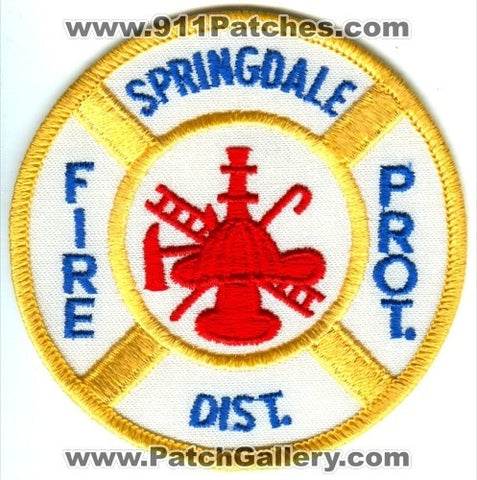 Springdale Fire Protection District Patch Missouri MO