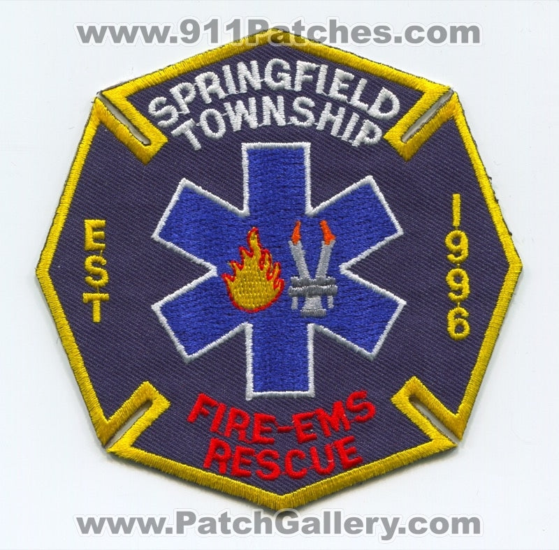 Springfield Township Fire EMS Rescue Department Patch Ohio OH