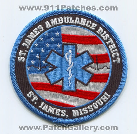 Saint James Ambulance District EMS Patch Missouri MO