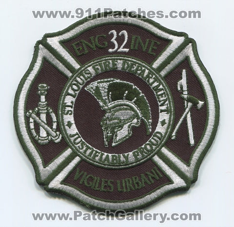 Saint Louis Fire Department Engine 32 Patch Missouri MO