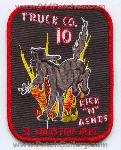 Saint Louis Fire Department Truck Company 10 Patch Missouri MO