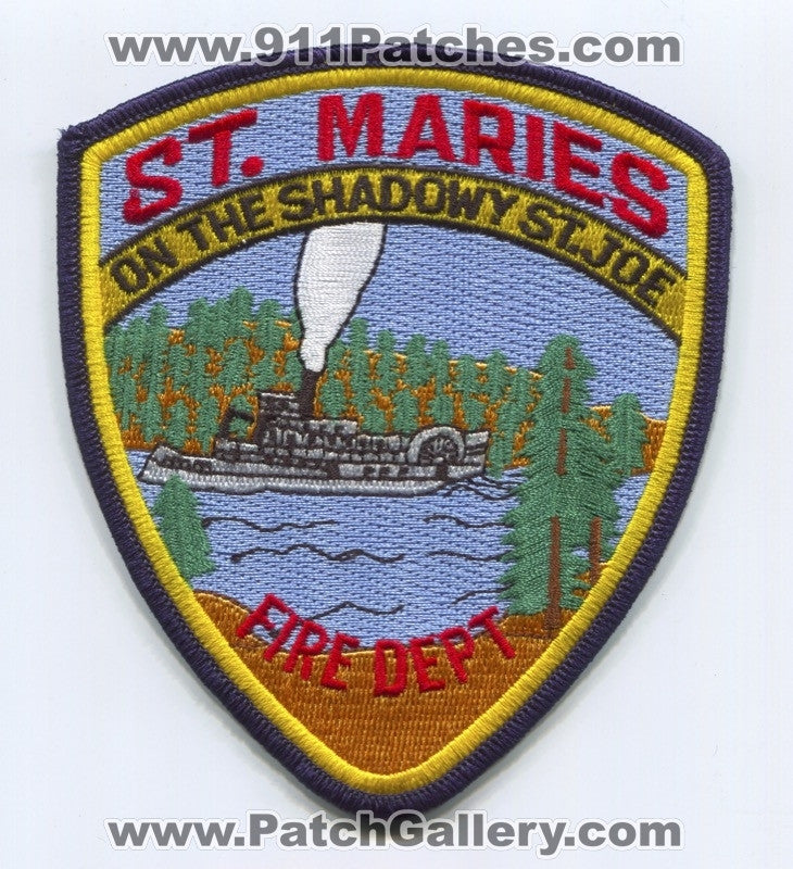 Saint Maries Fire Department Patch Idaho ID