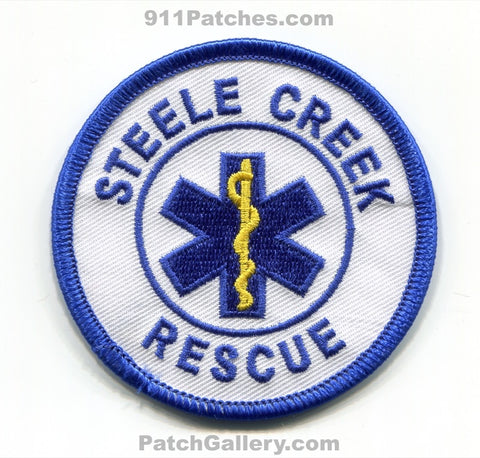 Steele Creek Rescue Emergency Medical Services EMS Patch North Carolina NC