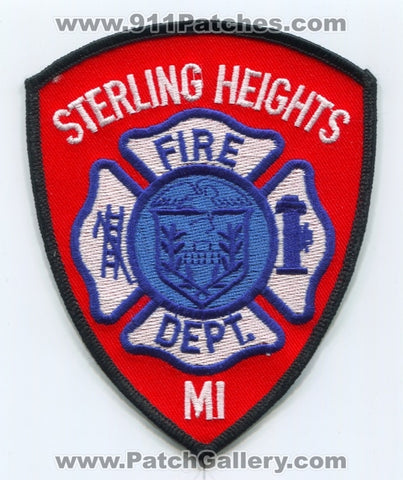 Sterling Heights Fire Department Patch Michigan MI