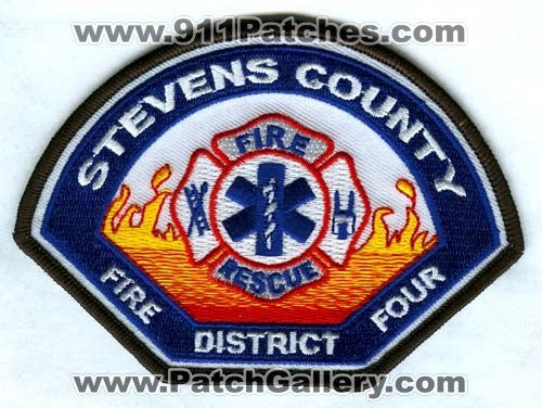 Stevens County Fire District 4 Patch Washington WA