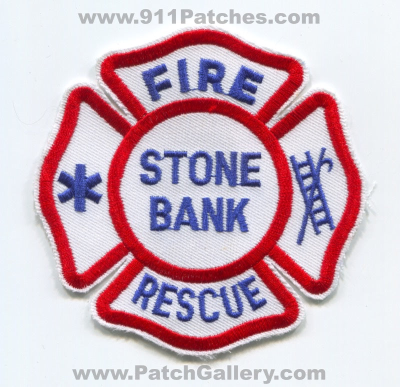 Stone Bank Fire Rescue Department Patch Wisconsin WI