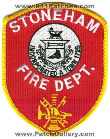 Stoneham Fire Department Patch Massachusetts MA