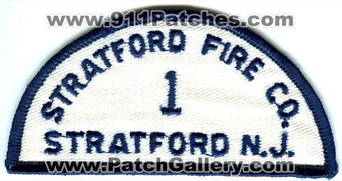 Stratford Fire Company 1 Patch New Jersey NJ