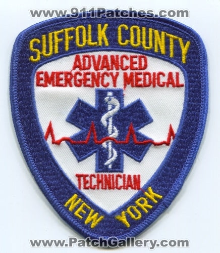 Suffolk County Advanced Emergency Medical Technician AEMT EMS Patch New York NY