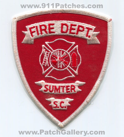 Sumter Fire Department Patch South Carolina SC