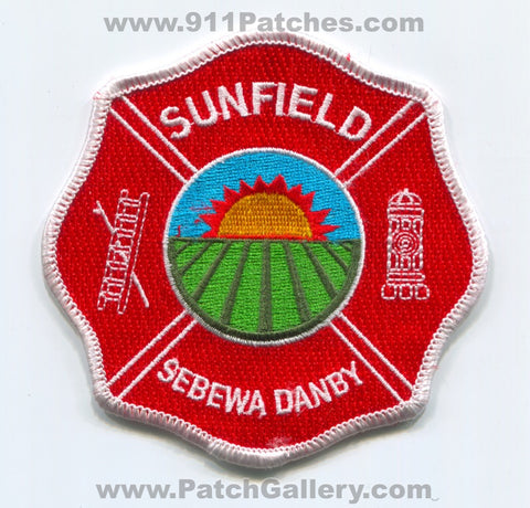 Sunfield Sebewa Danby Fire Department Patch Michigan MI