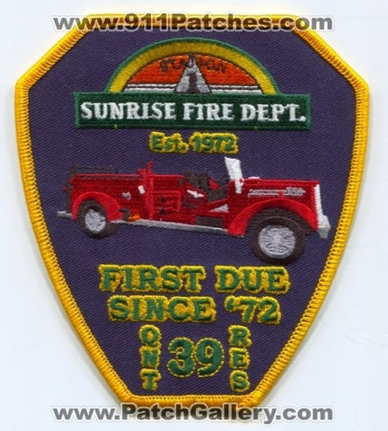 Sunrise Fire Rescue Department Station 39 Patch Florida FL