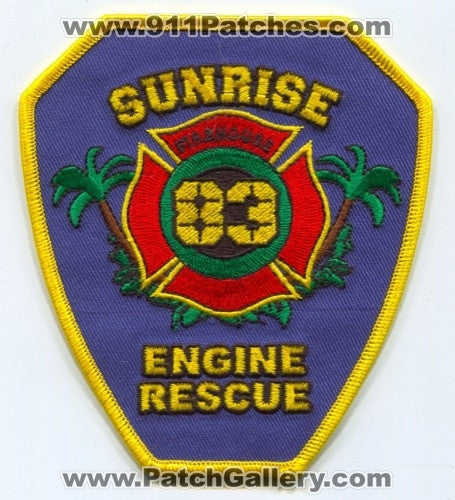 Sunrise Fire Rescue Department Station 83 Patch Florida FL