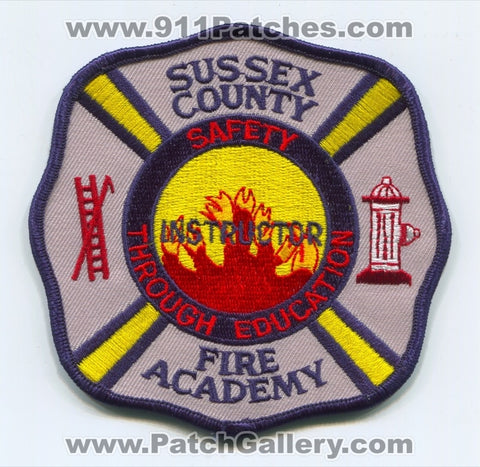 Sussex County Fire Academy Instructor Patch New Jersey NJ