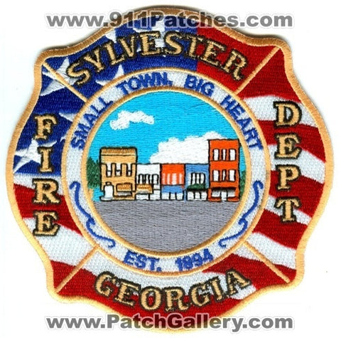 Sylvester Fire Department Patch Georgia GA