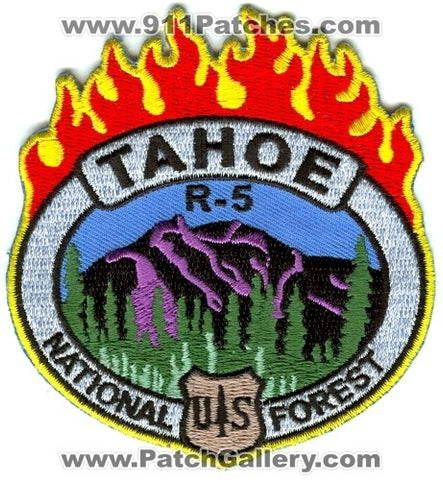 Tahoe National Forest Region 5 Fire Wildfire Wildland Patch California CA