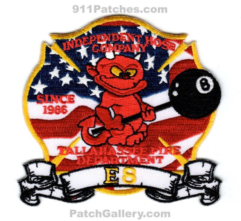 Tallahassee Fire Department Engine 8 Patch Florida FL