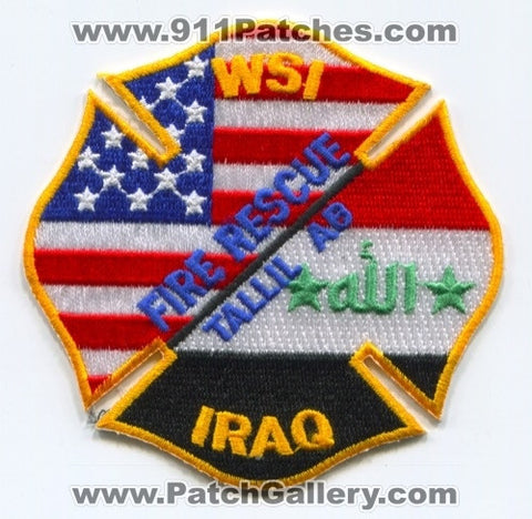 Iraq - Tallil Air Base Fire Rescue Department WSI Military Patch