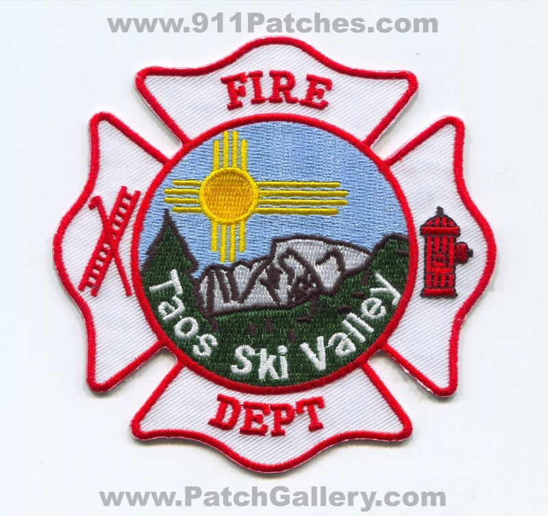 Taos Ski Valley Fire Department Patch New Mexico NM