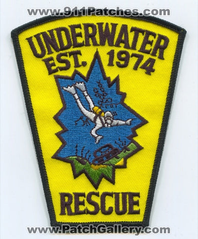 Taunton Police Department Underwater Rescue Patch Massachusetts MA