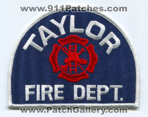 Taylor Fire Department Patch Michigan MI