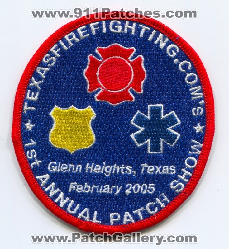 TexasFirefighting.com 1st Annual Patch Show Patch Texas TX