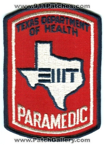 Texas Department of Health EMT Paramedic EMS Patch Texas TX