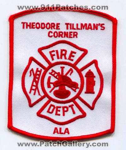 Theodore Tillmans Corner Fire Department Patch Alabama AL
