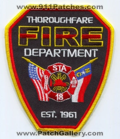 Thoroughfare Fire Department Station 18 Patch North Carolina NC