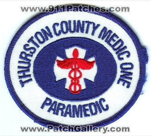 Thurston County Medic One Paramedic EMS Patch Washington WA