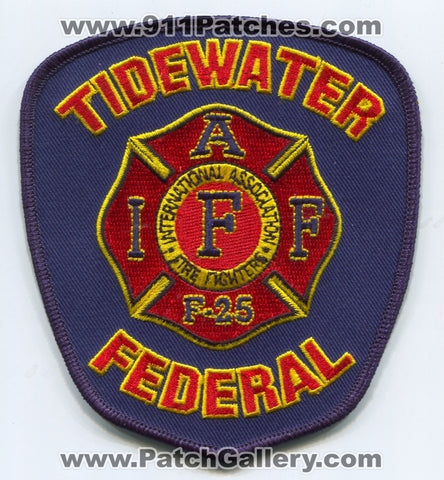 Tidewater Federal Firefighters IAFF Local F-25 Patch Virginia VA