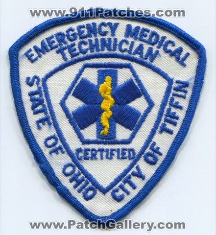 Tiffin Certified Emergency Medical Technician EMT EMS Patch Ohio OH
