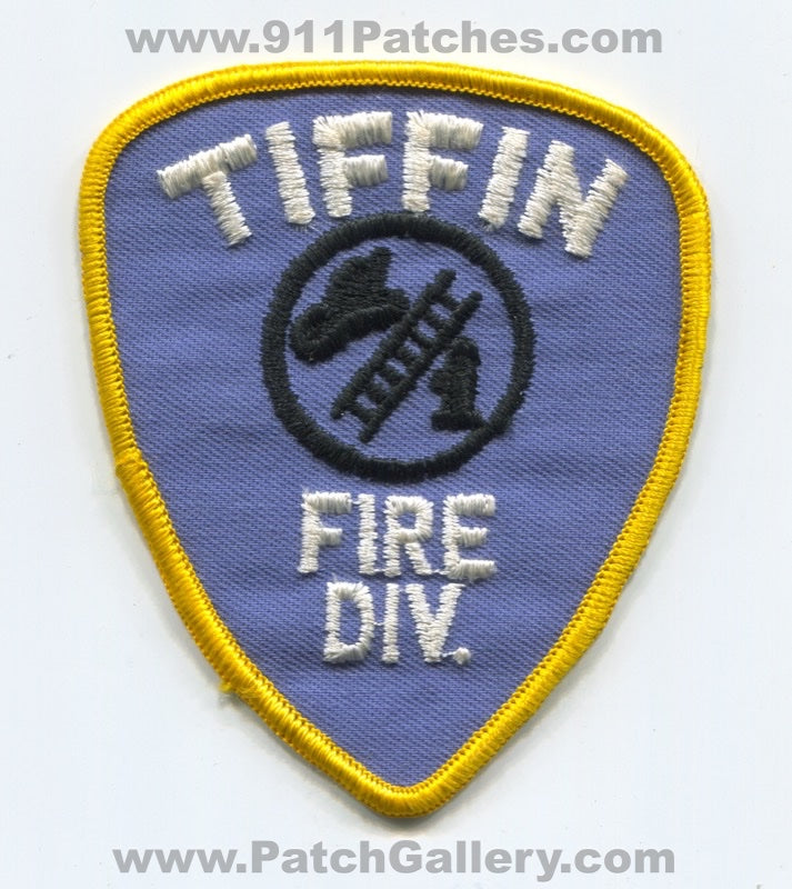 Tiffin Fire Division Department Patch Ohio OH
