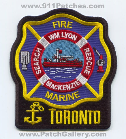 Canada ON - Toronto Fire Department Marine Search Rescue Fireboat Patch