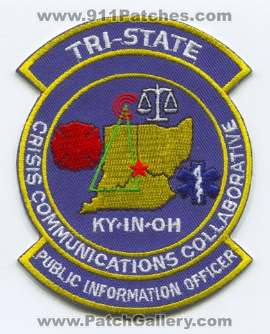 Tri-State Crisis Communications Collaborative PIO Patch Indiana IN Kentucky KY Ohio OH
