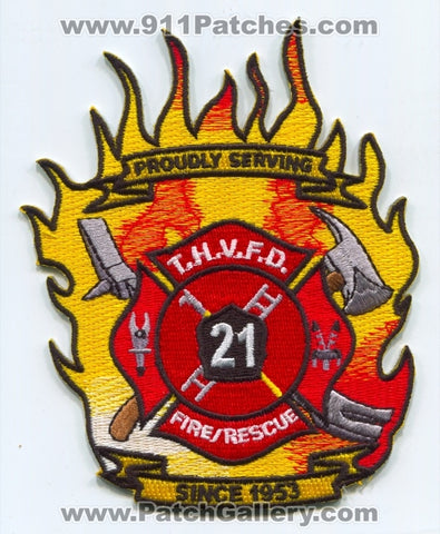 Triune Halleck Volunteer Fire Rescue Department 21 Patch West Virginia WV
