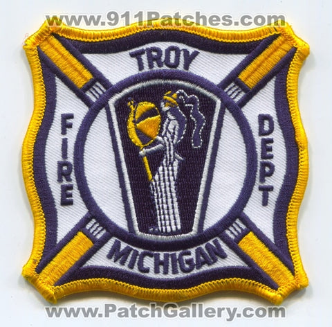 Troy Fire Department Patch Michigan MI