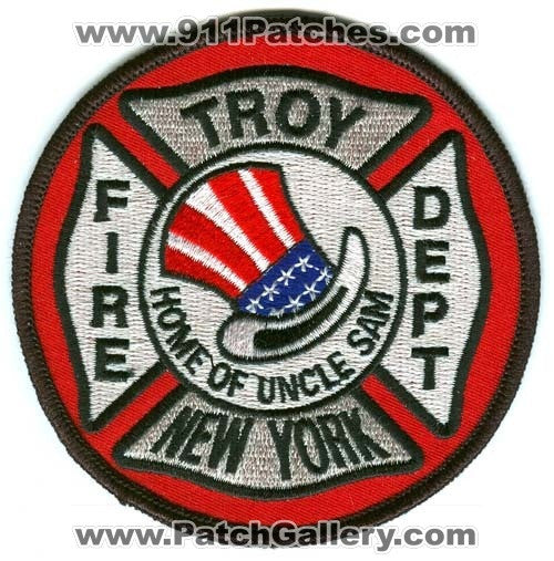 Troy Fire Department Patch New York NY