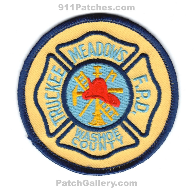 Truckee Meadows Fire Protection District Washoe County Patch Nevada NV
