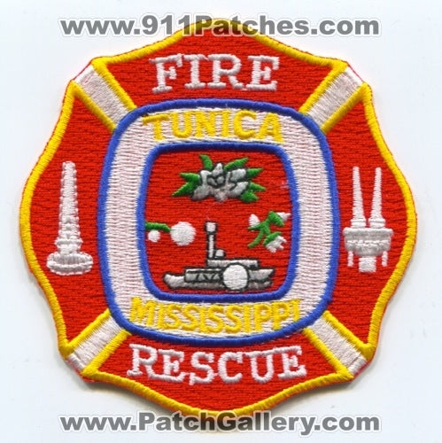 Tunica Fire Rescue Department Patch Mississippi MS