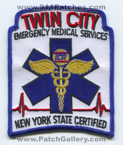 Twin City Emergency Medical Services EMS Ambulance Patch New York NY