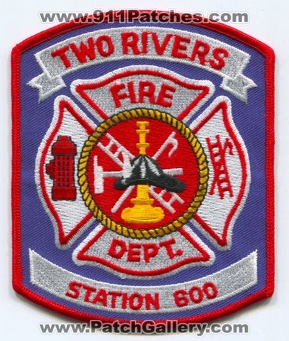 Two Rivers Fire Department Station 600 Patch Wisconsin WI