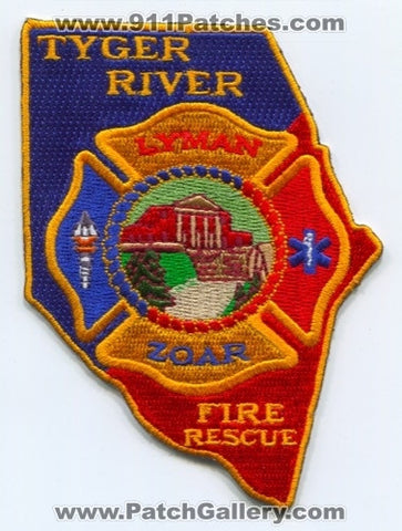 Tyger River Fire Rescue Department Patch South Carolina SC